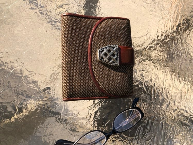 Brighton bifold wallet with leather inte