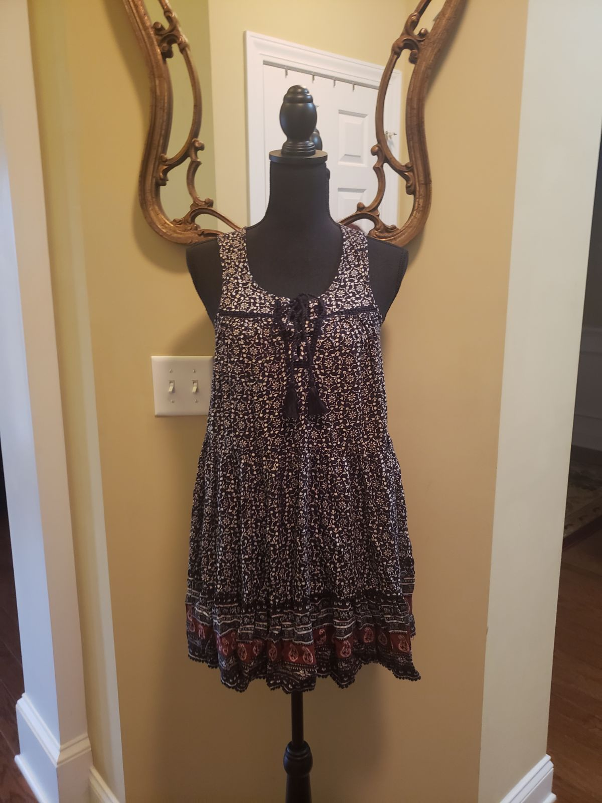 NWT American Eagle AEO Womens AE Boho Spring Sun Floral Dress S,M