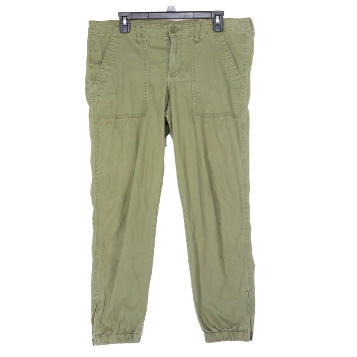 Cabi Women's Elastic Ankle Green Pants