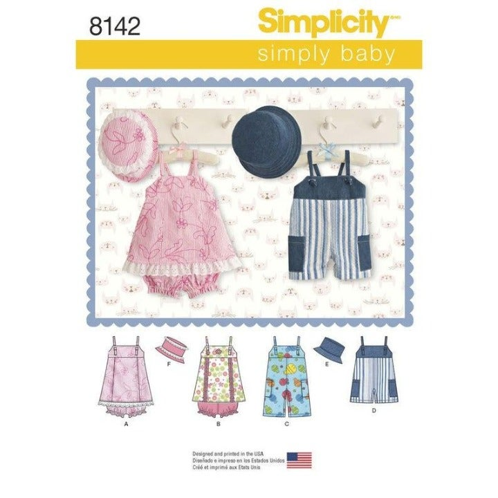 Simplicity 8142 Infants' Sewing Pattern