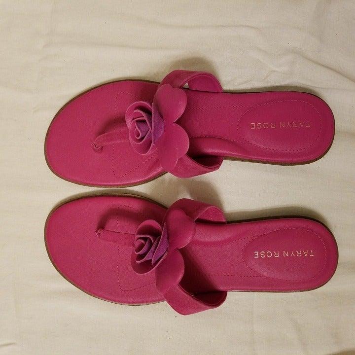 Taryn Rose flat pink sandals Like New