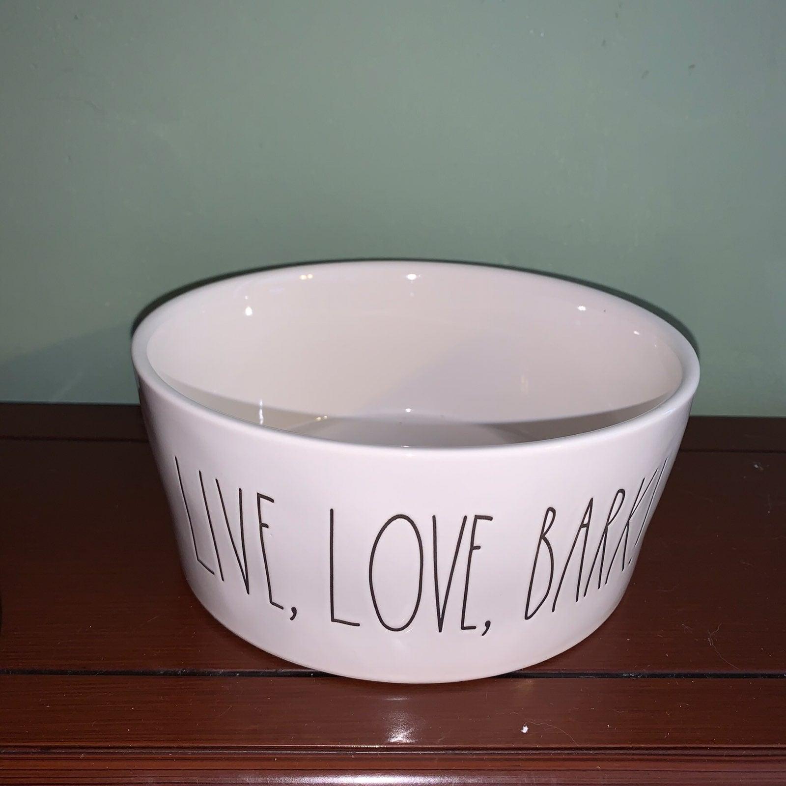 Rae Dunn Live, Love, Bark Dog Bowl