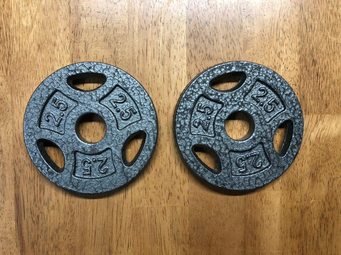 2.5 LB Set Weight Plates 1 Inch Bar 5lbs
