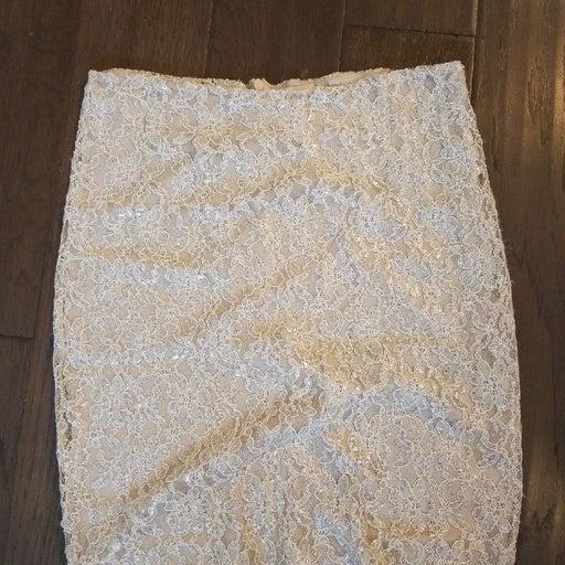 Cremiux vintage style lace skirt