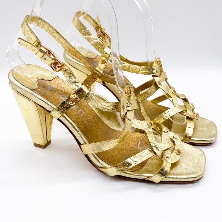 Taryn Rose Gold Strappy Heels