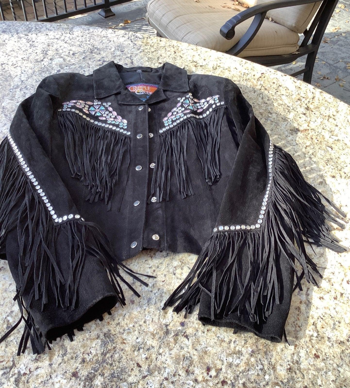 womens black leather jackets size Medium