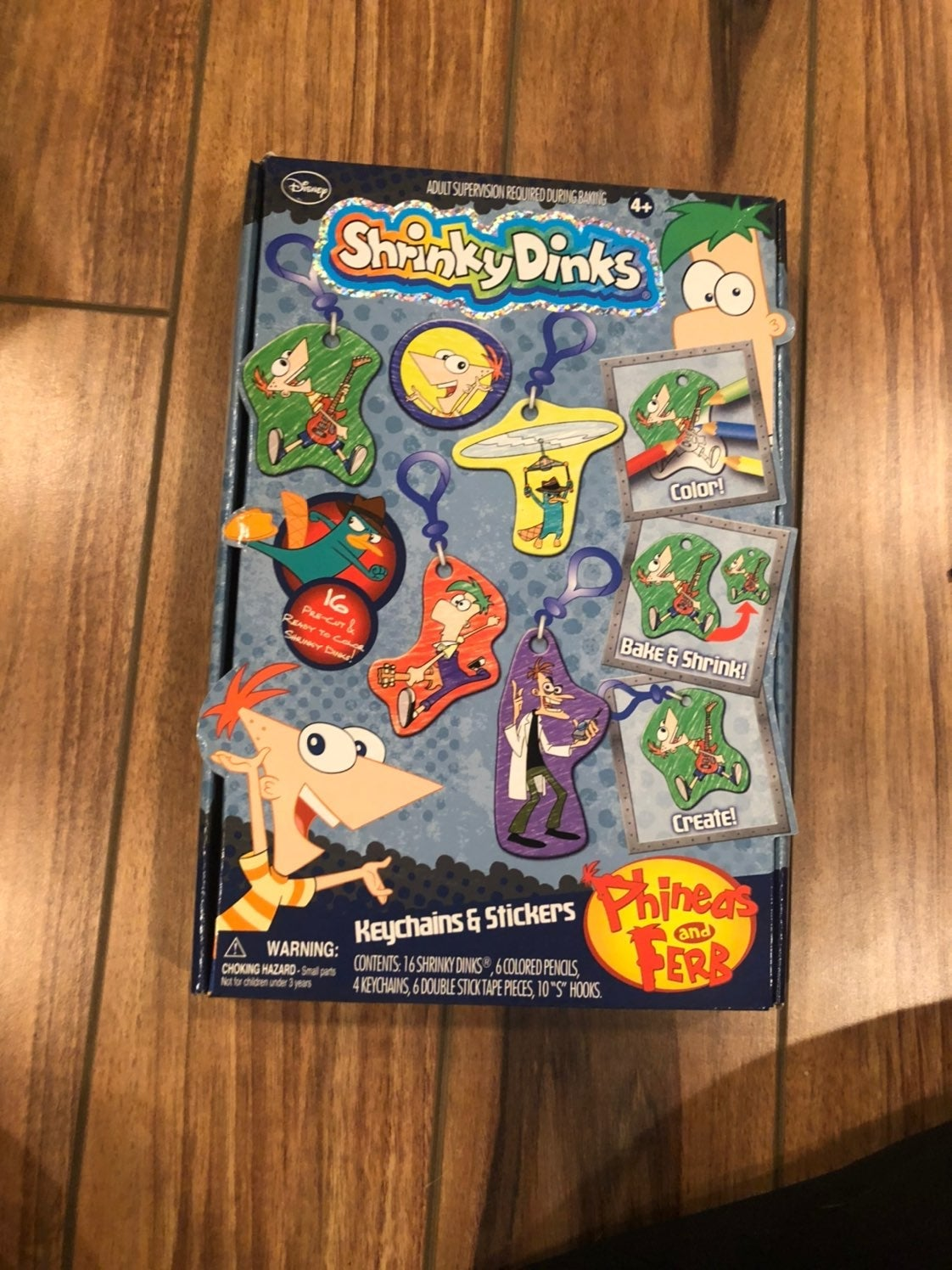 Phineas and Pherb Shrinky Dink