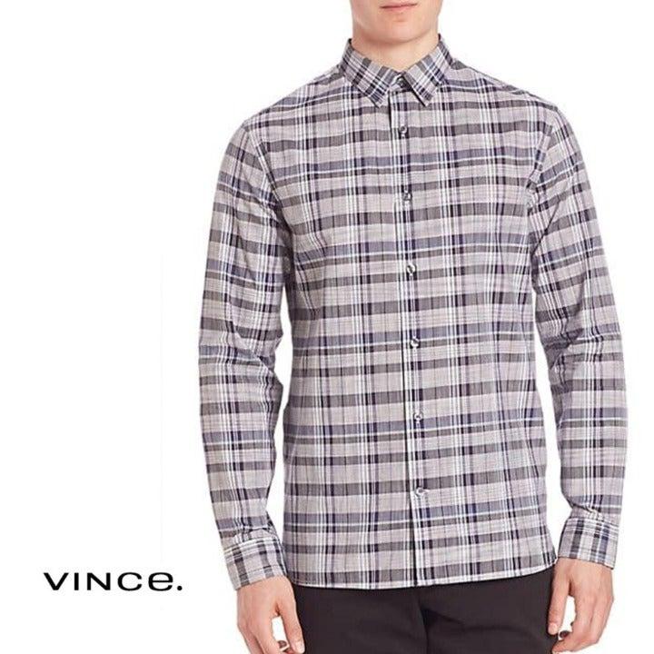 VINCE Melrose Multi Plaid Shirt