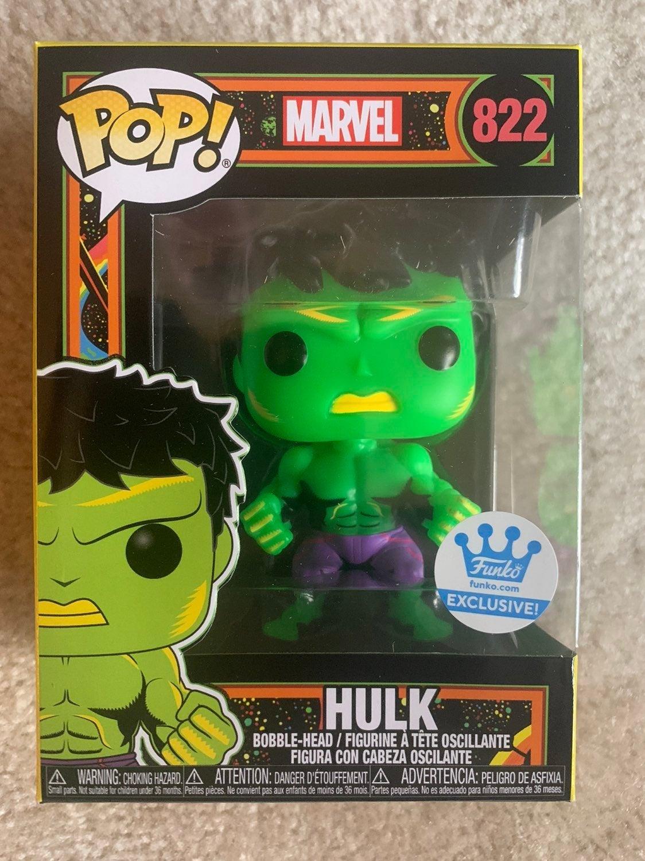 Hulk Black Light Funko Pop Exclusive