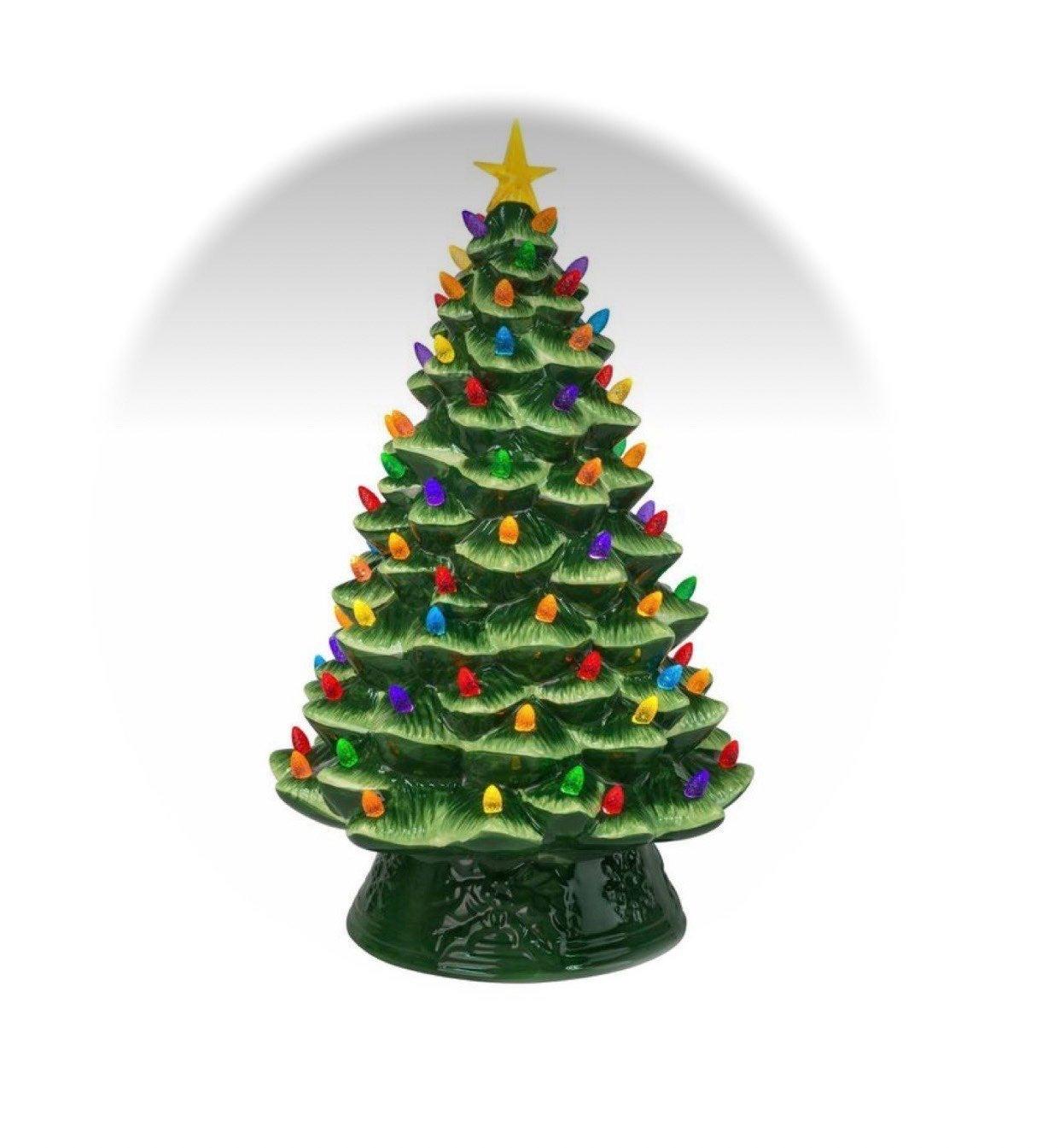 "18"" Ceramic Christmas Tree Electric"