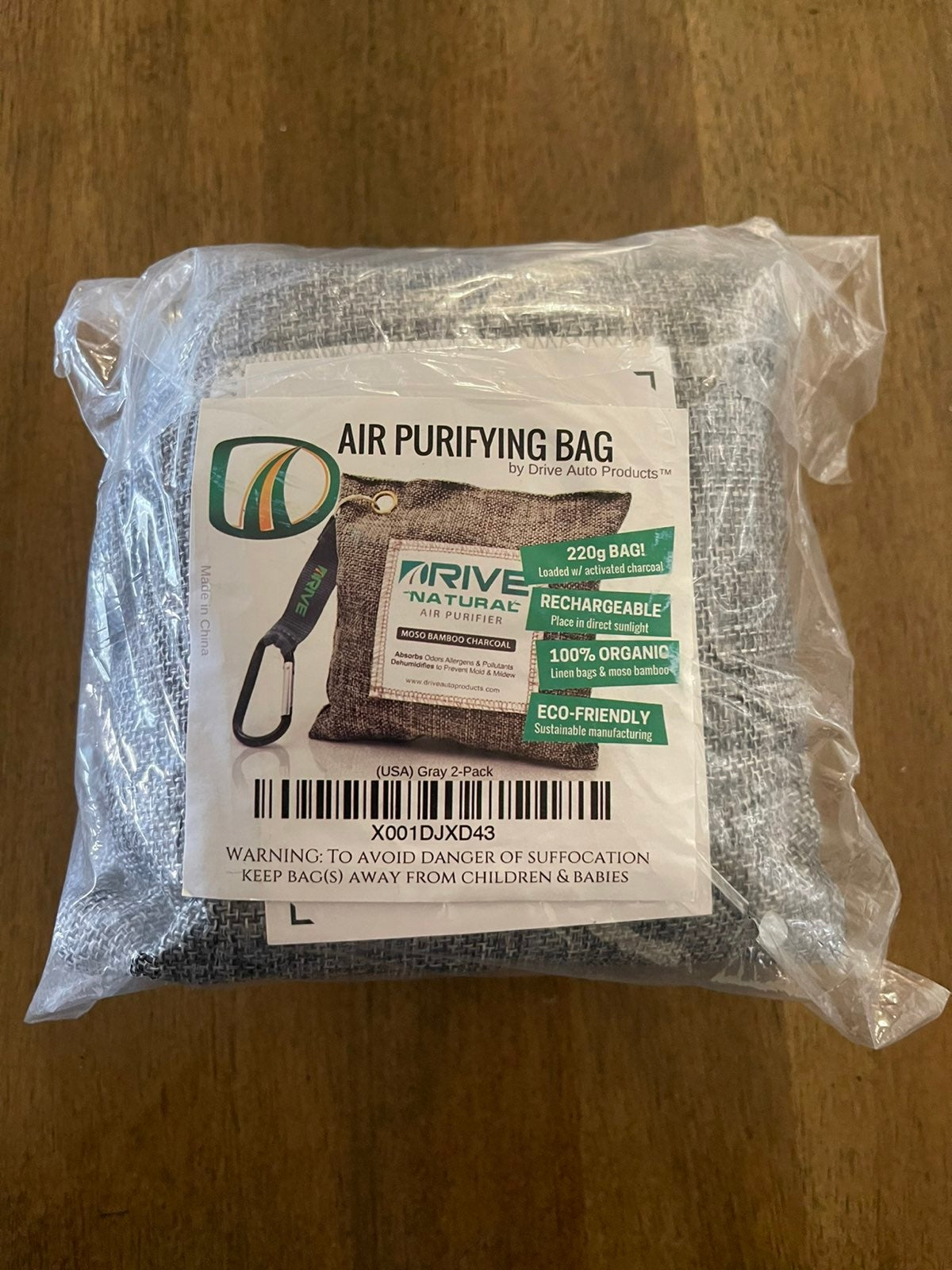2 New Air Purifying Bags