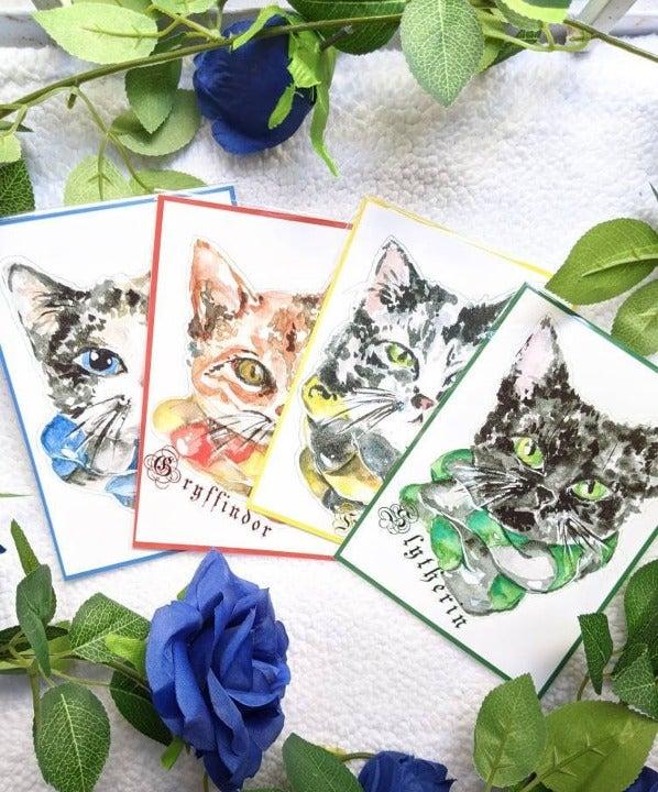 Harry Potter Hogwarts Cat Art Prints