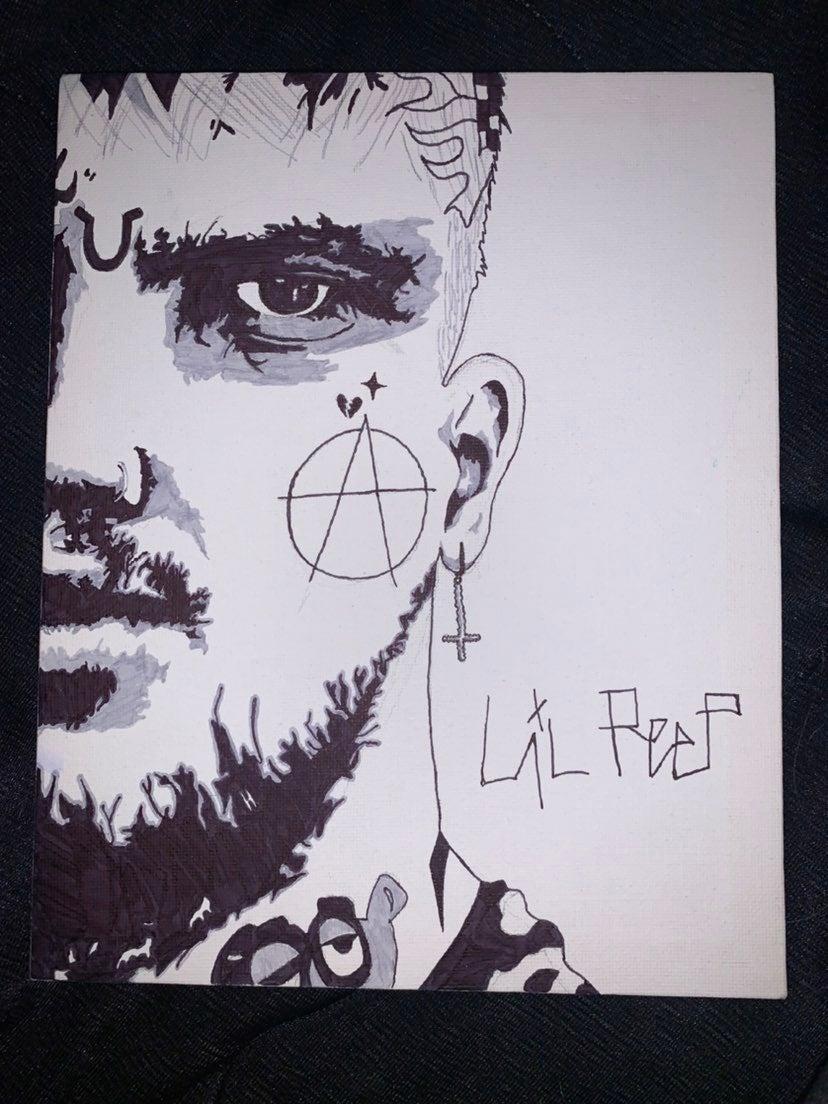Lil Peep Sharpie Drawing