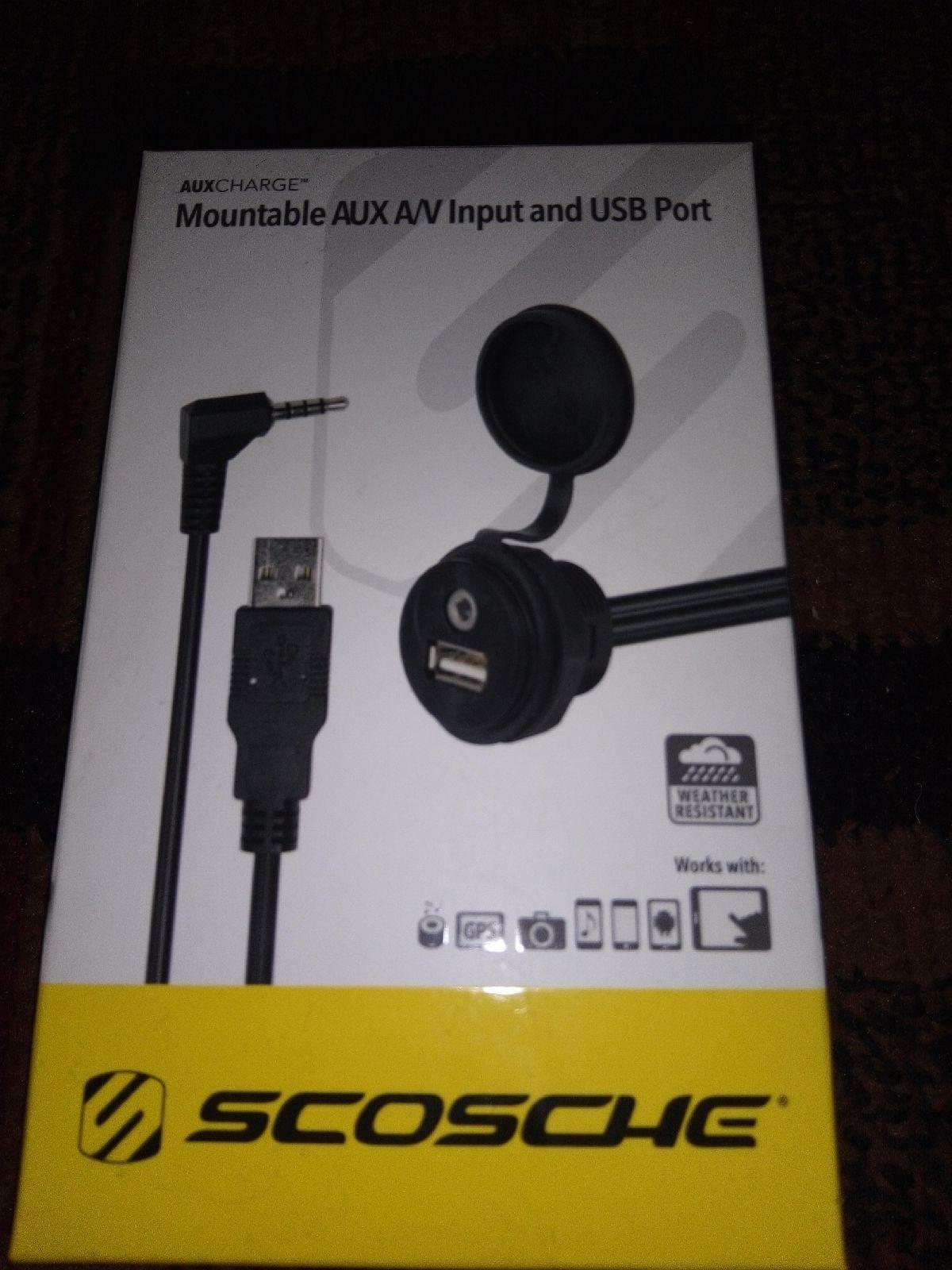 Mountable Aux/USB Port Scosche