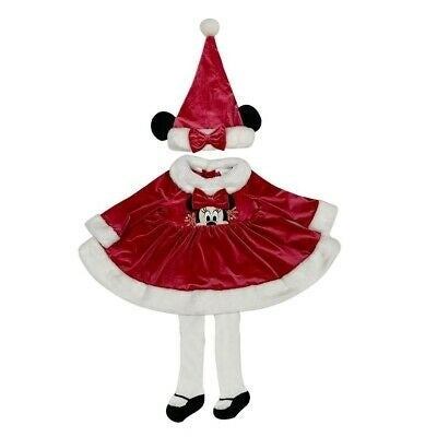 MinnieMouse Holiday Dress & Hat Baby Set