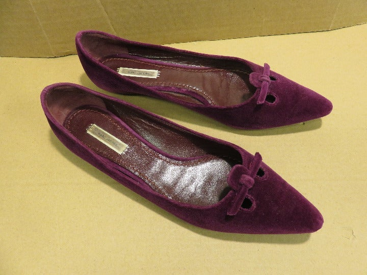 Marc Jacobs Suede Pointy Toe Ballet Flat