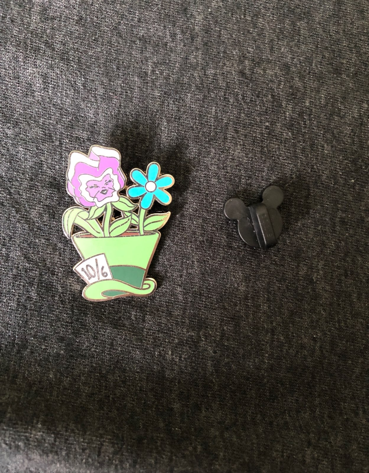 Mad Hatter Potted Plant Pin