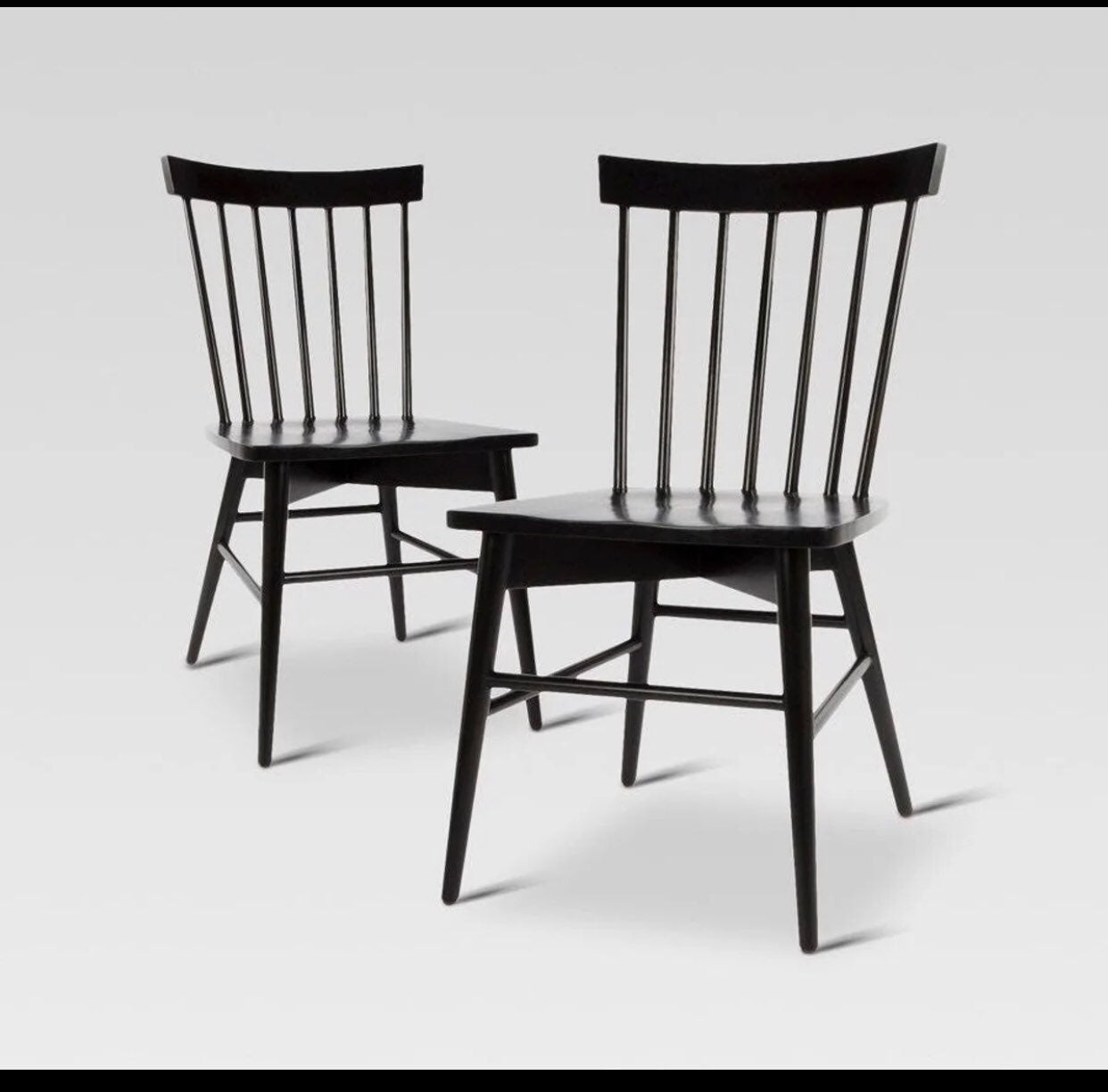 Windsor set of two dining chairs