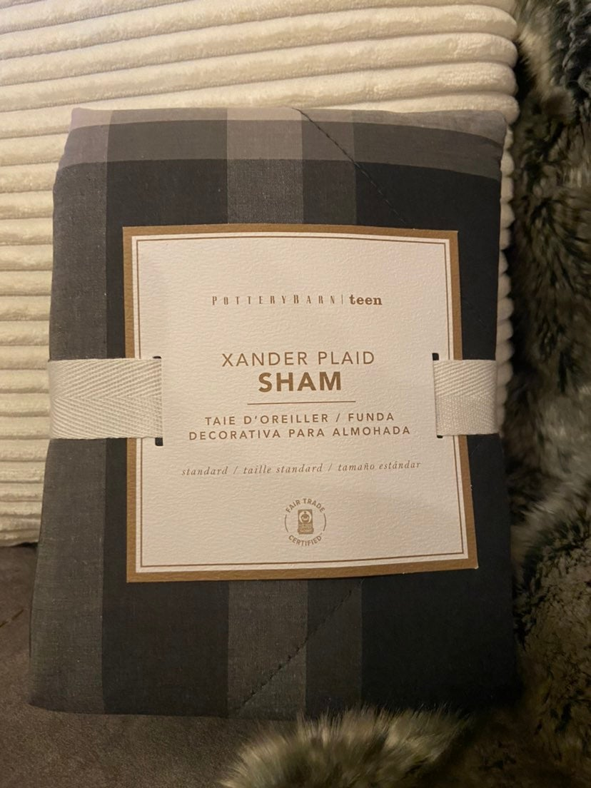 Pottery Barn Teen Xander Plaid Sham