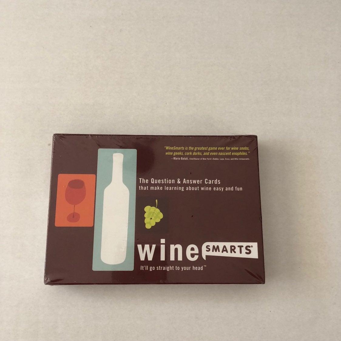 Wine Smarts Party Game NIB
