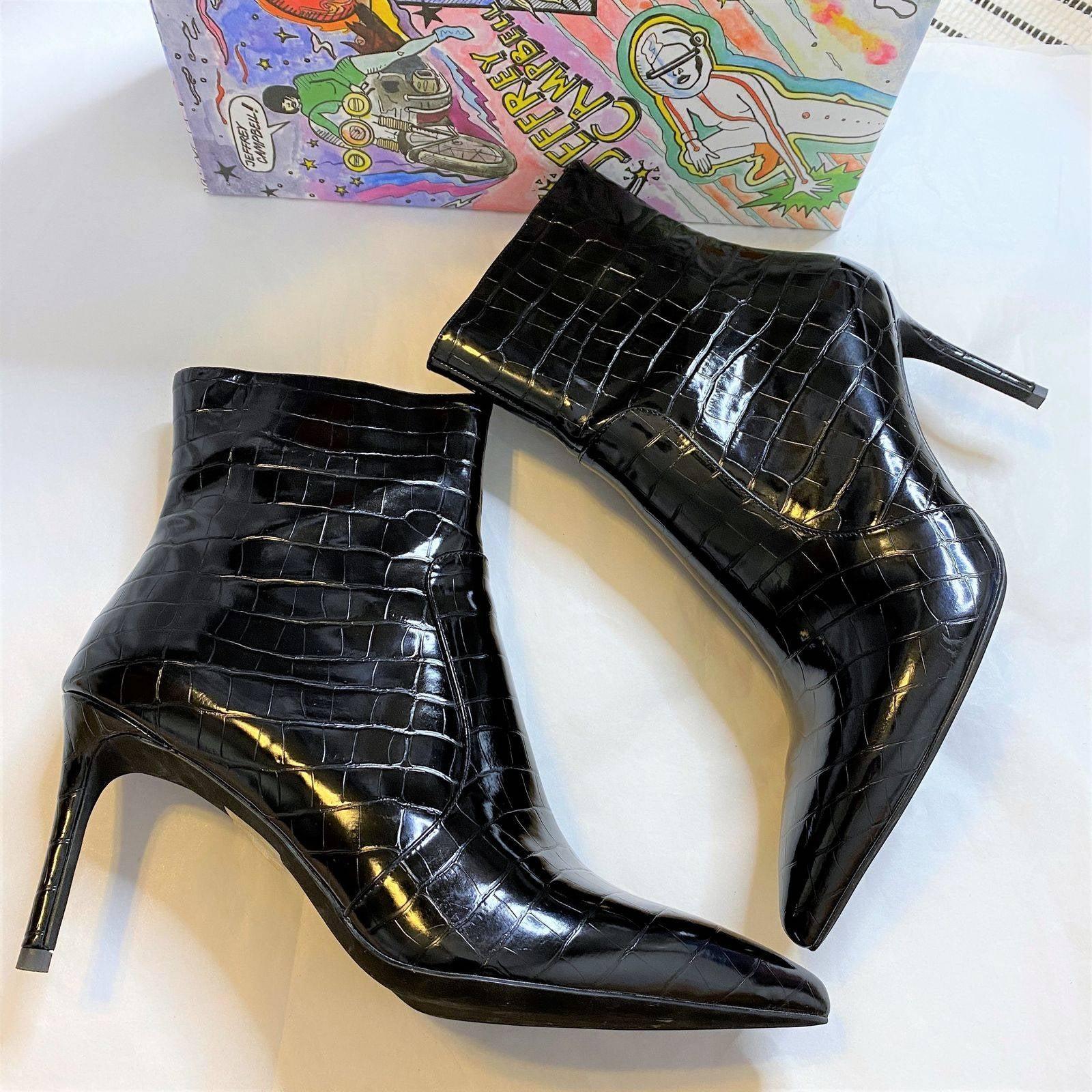 Jeffrey Campbell NIB Khalees Snake Boots