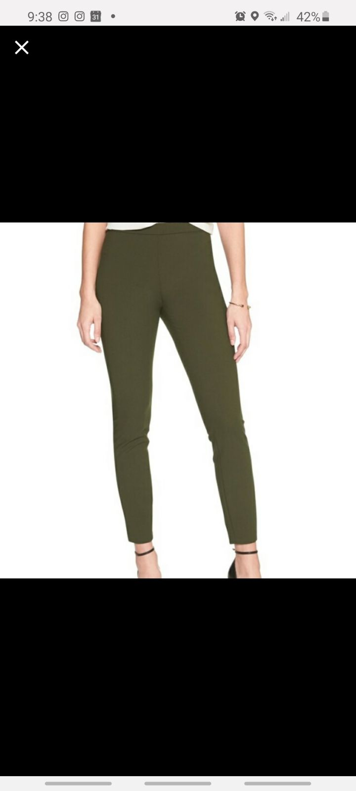 Banana Republic Olive Legging Pants S