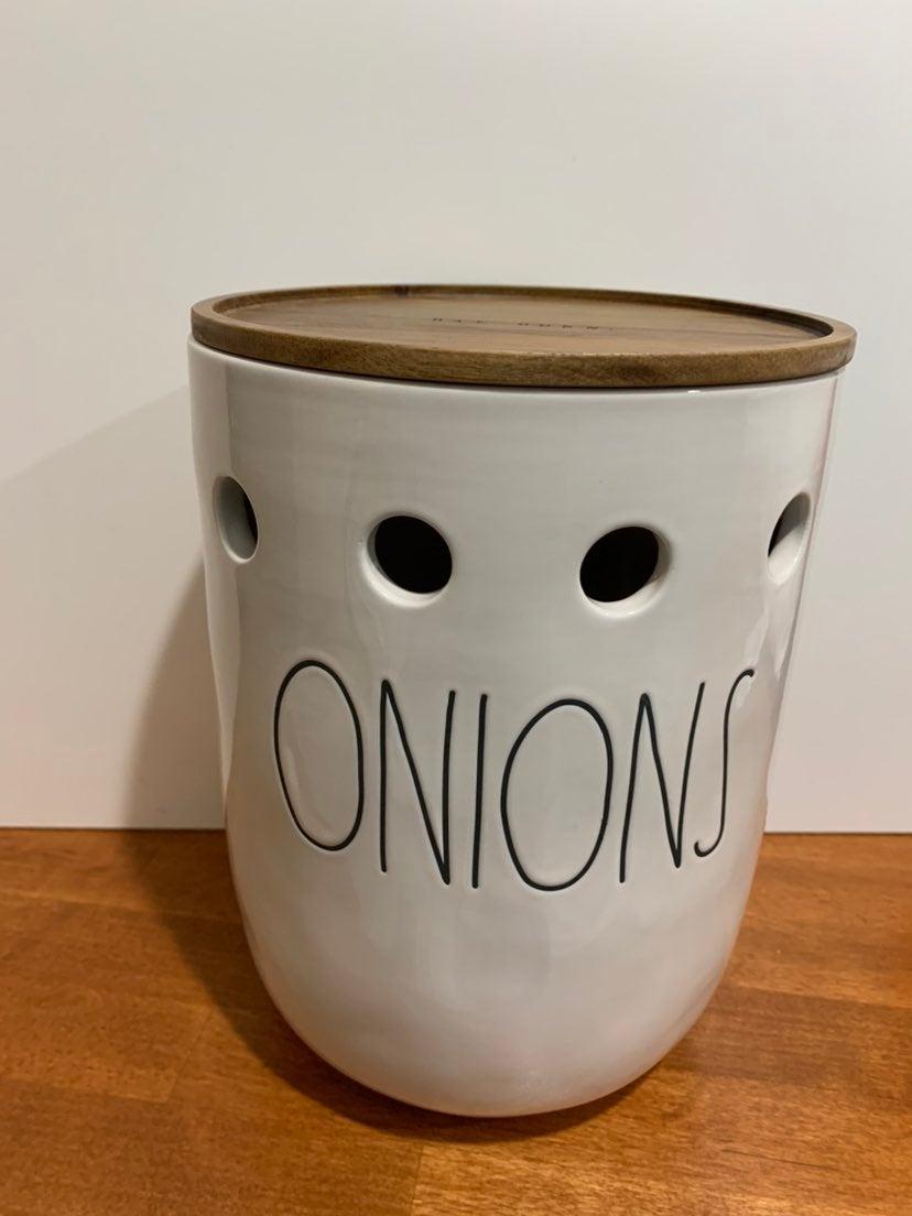 Rae Dunn Onions Canister