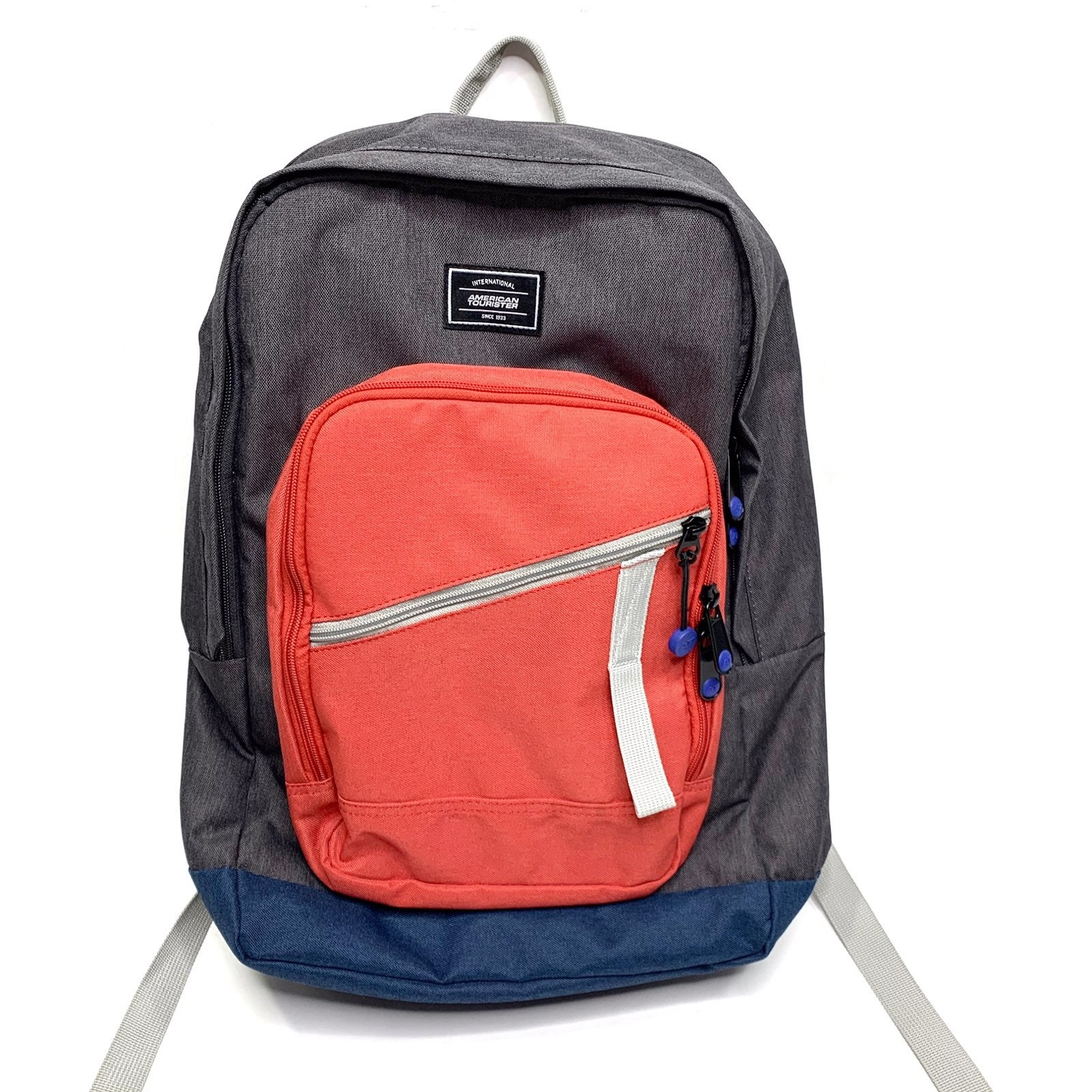 American Tourister Backpack Red Gray