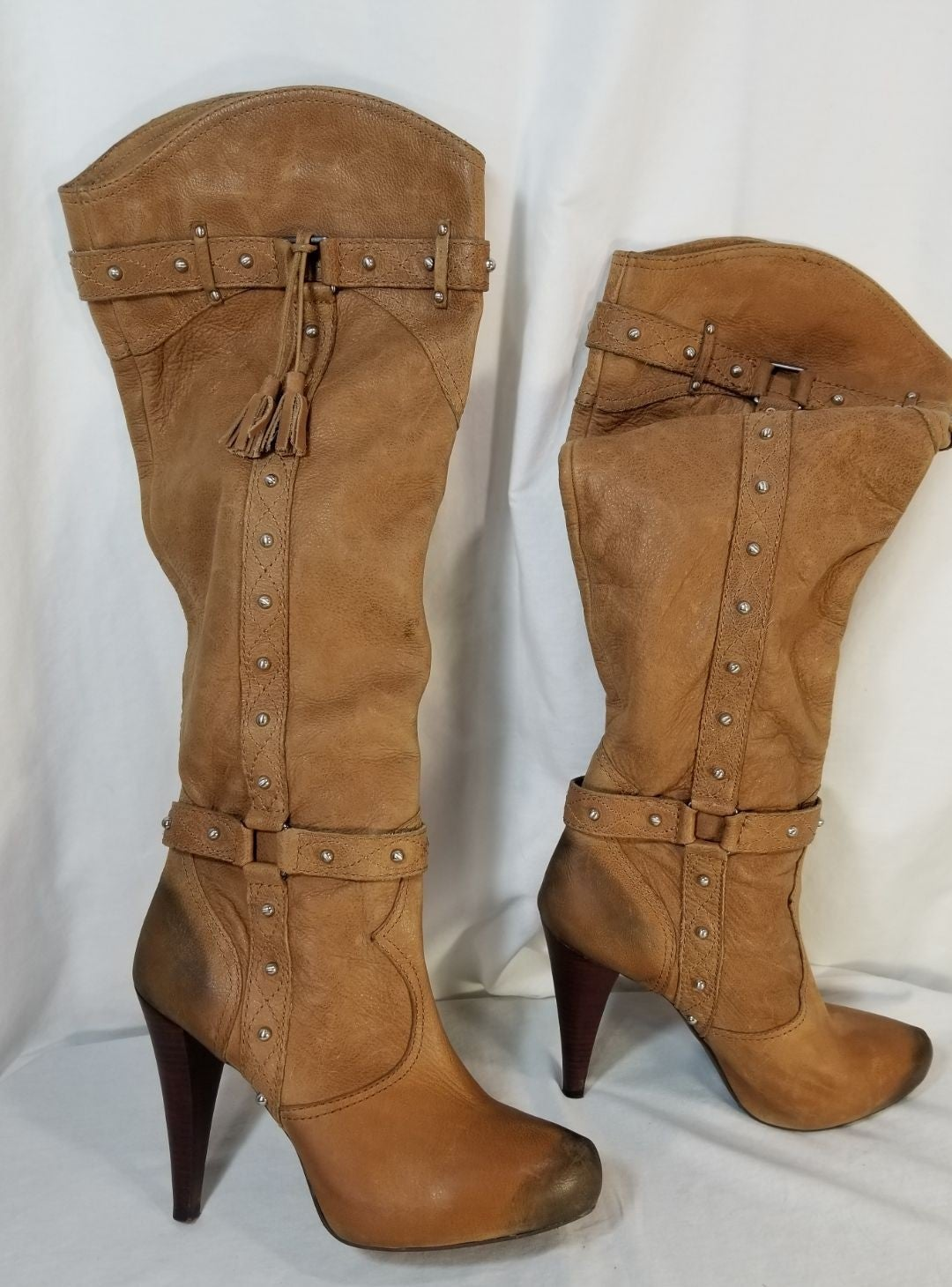 gianni bini Knee High Heel Learher Boots
