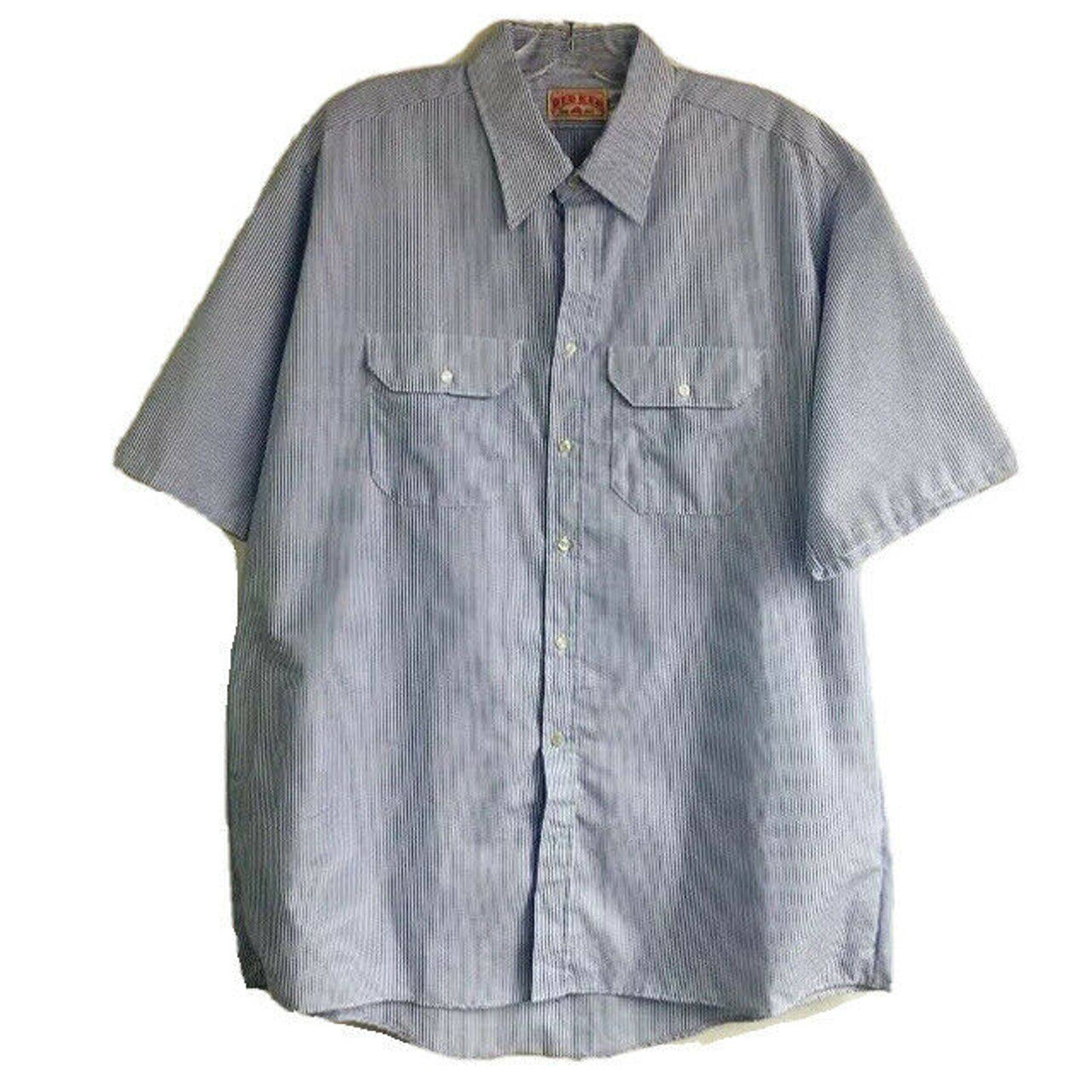 Red Kap XXL Work Shirt Blue Stripes