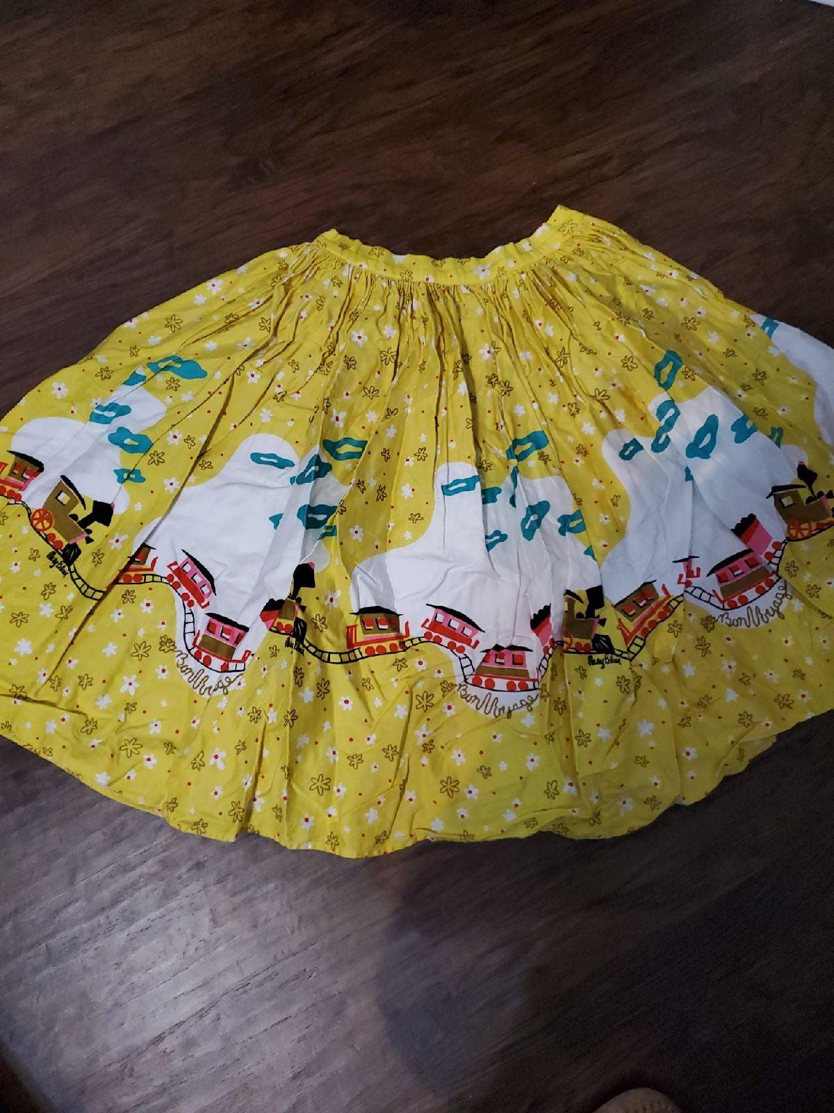 Mary Blair daisy train rare yellow skirt