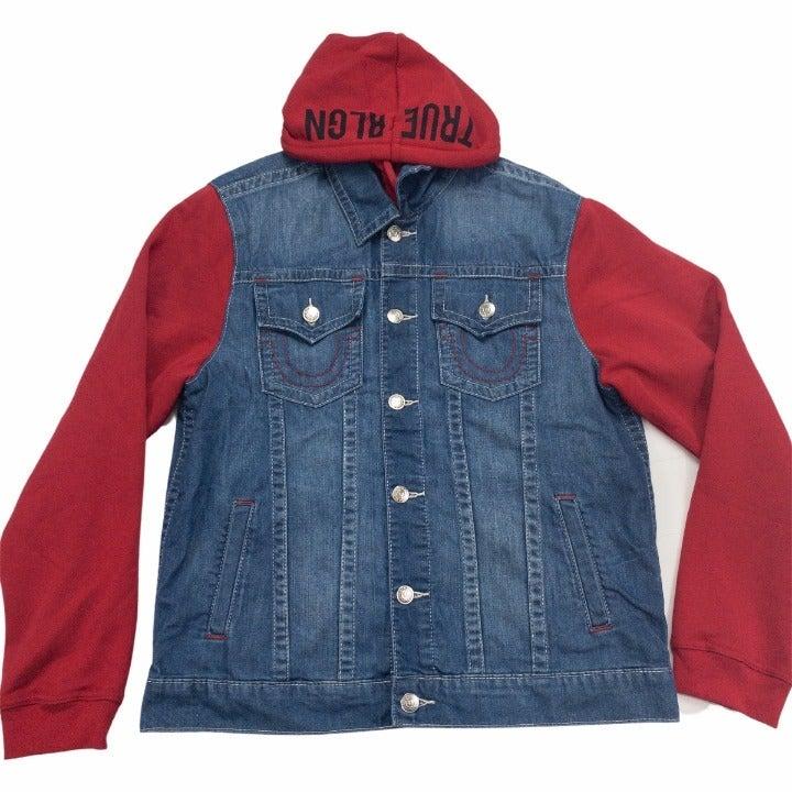 True Religion Mens Jacket Hoodie 2XL New