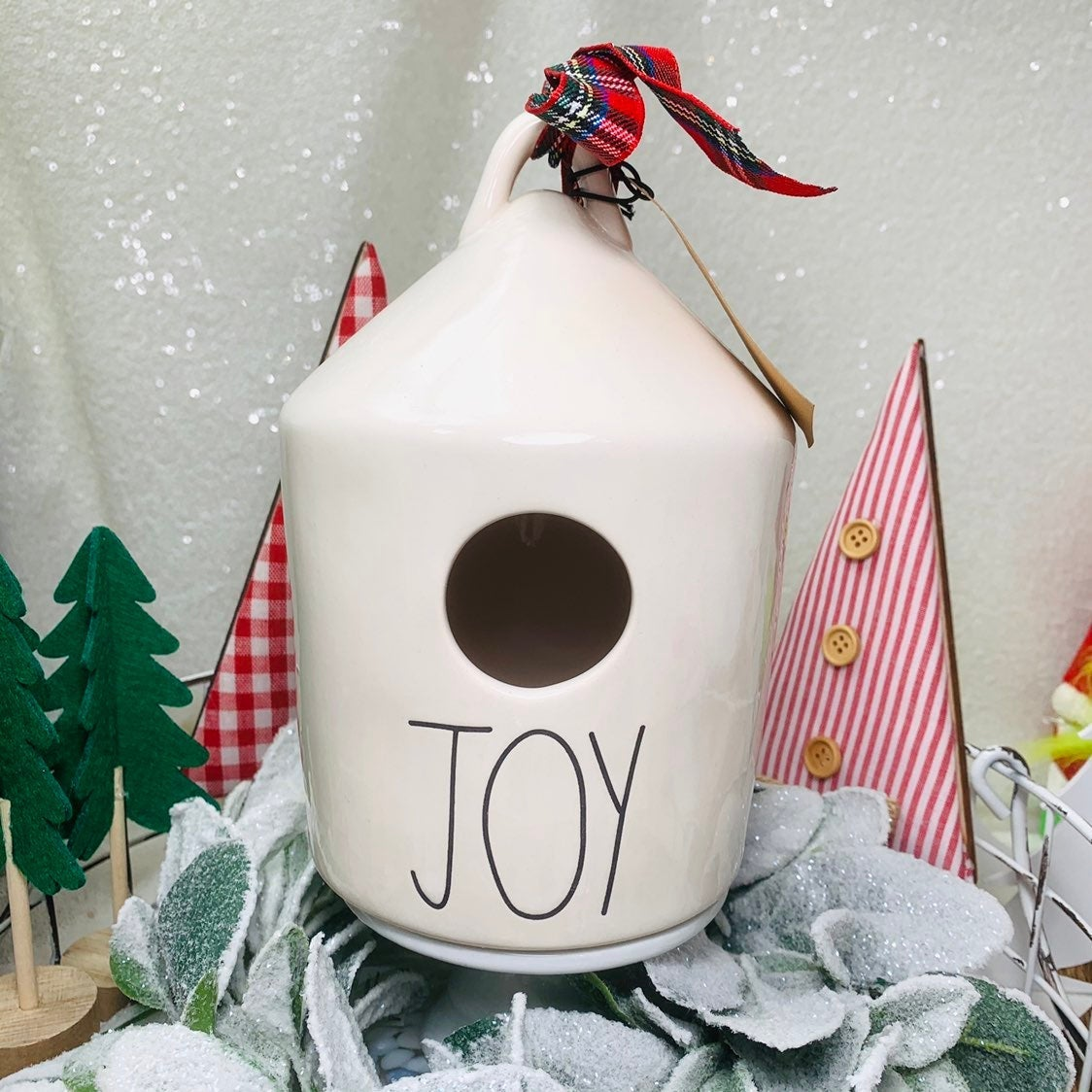 RAE DUNN HOLIDAY JOY BIRDHOUSE