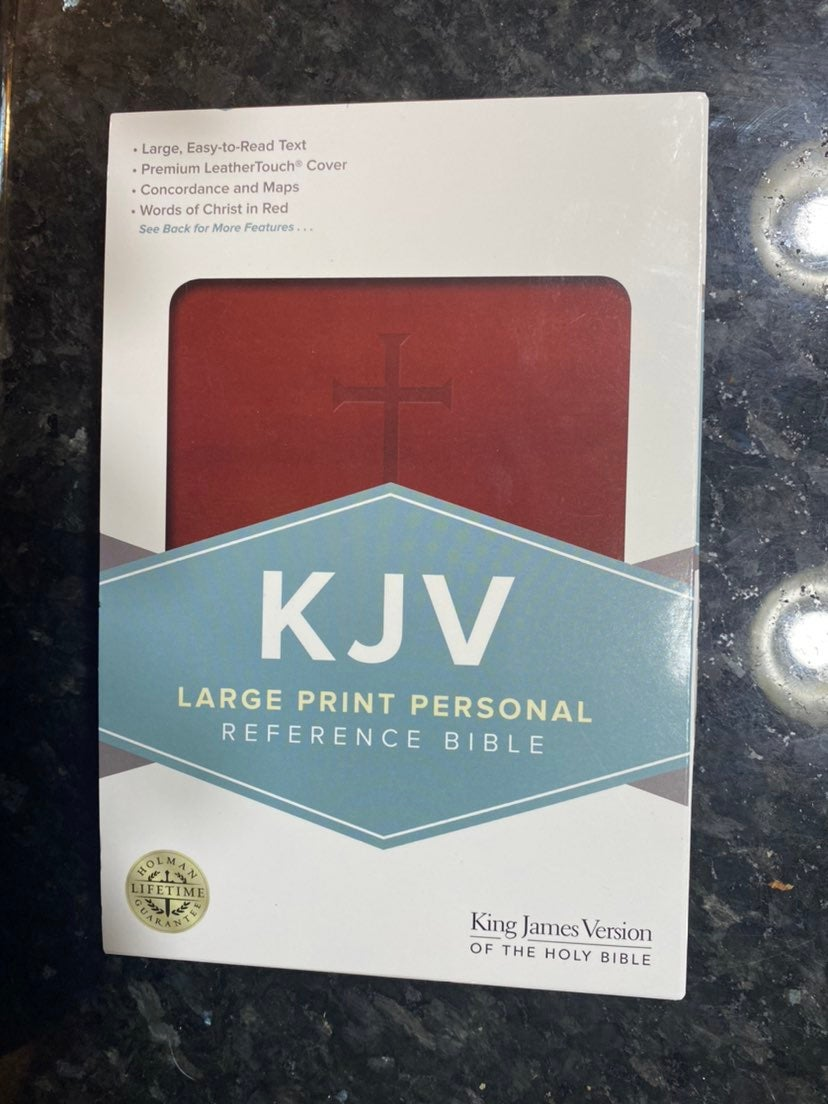 King James Large Print Leather Bible New