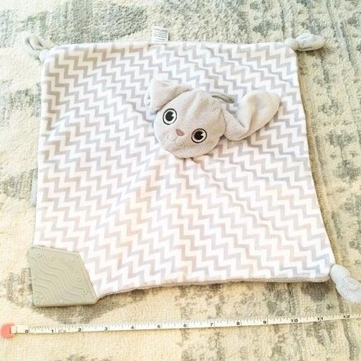 BooginHead Gray White Chevron Bunny