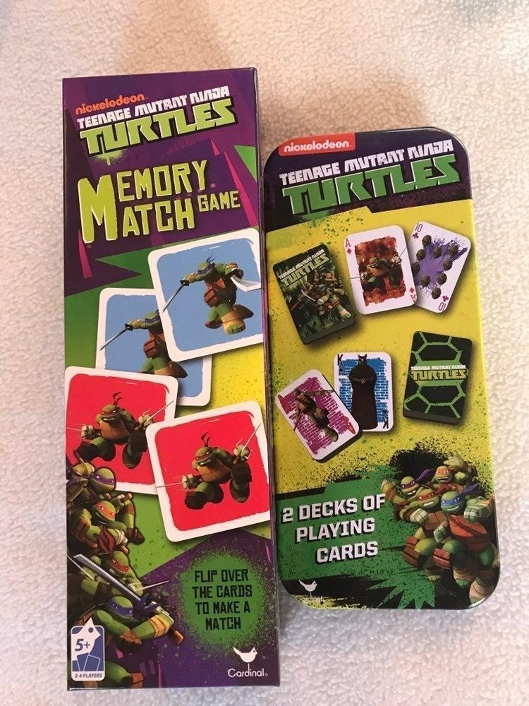Ninja Turtles Playing Cards & Match Game