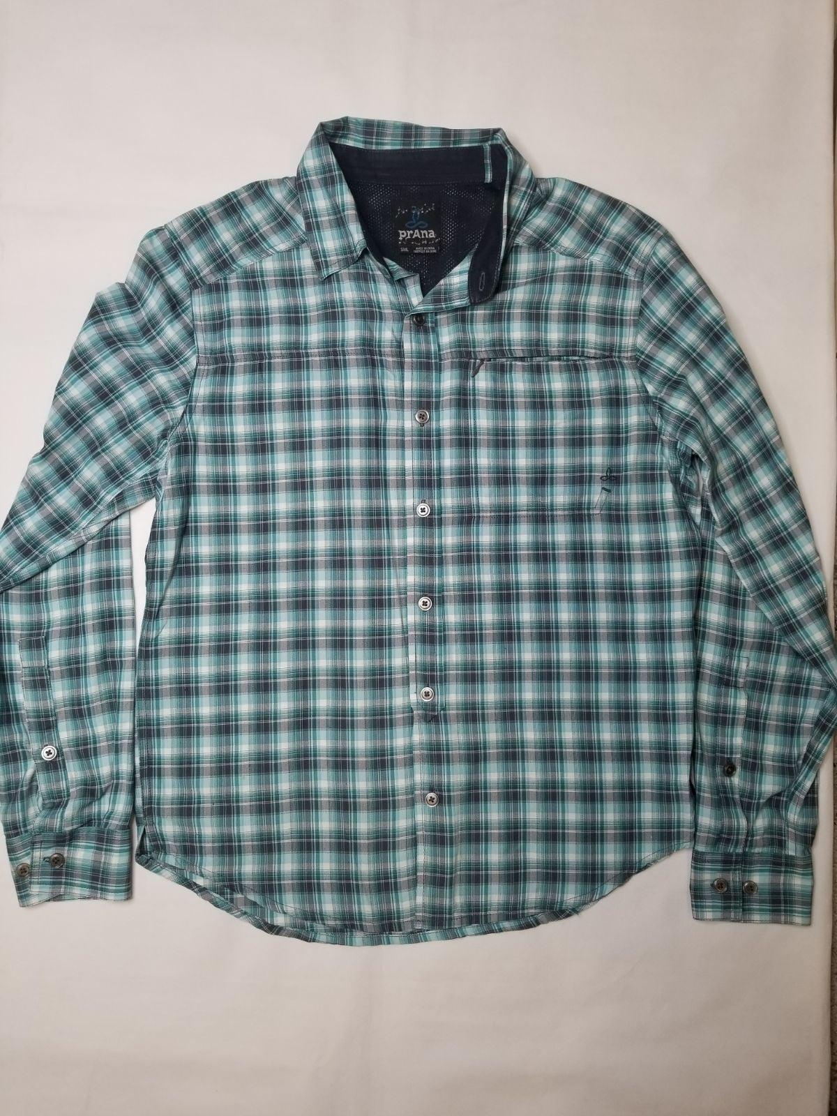 Prana Long Sleeve Button Front Shirt Sml