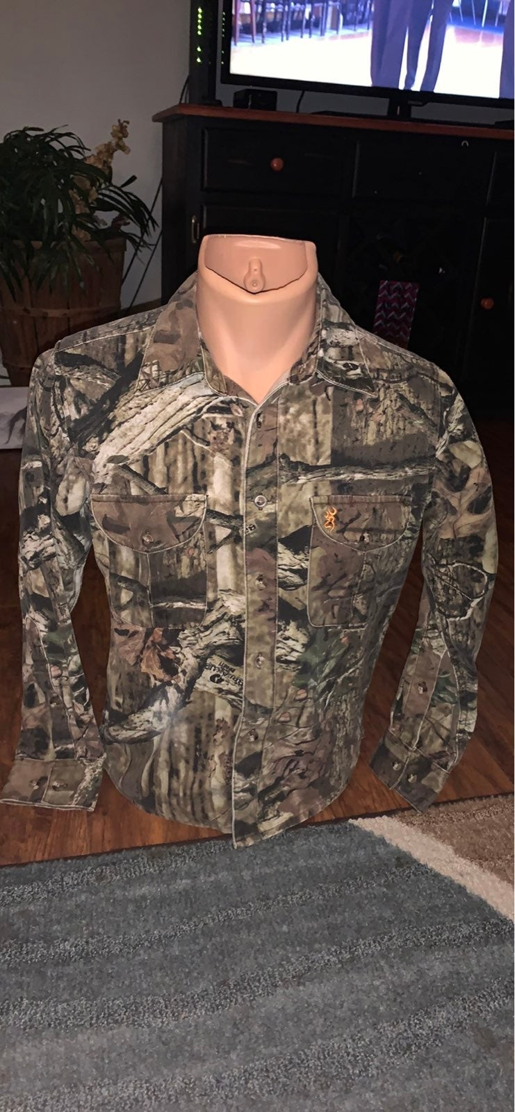 Youth Browning Camo shirt