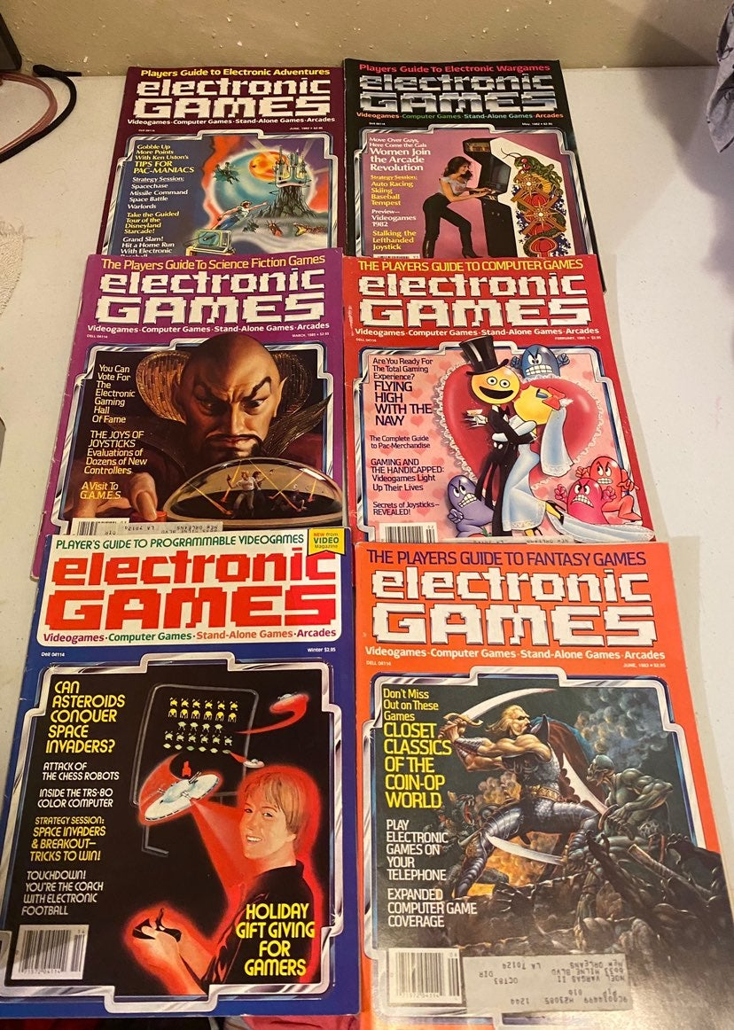 Vintage Lot Electronic Games Magazines
