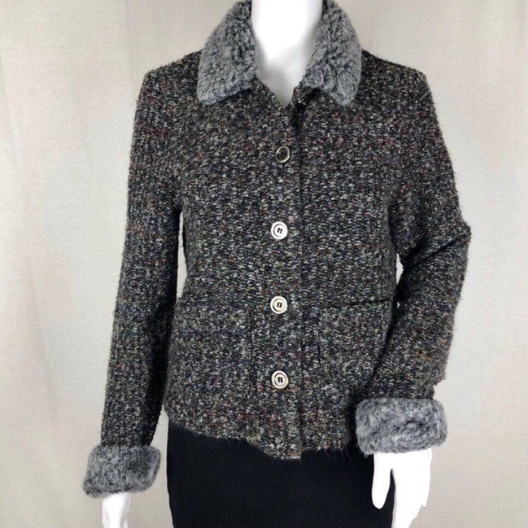Cynthia Max Button Up Sweater Jacket