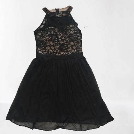 Morgan & co. Black/Nude halter dress 9
