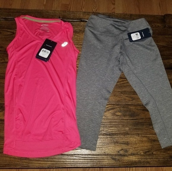 Asics NWT Active Capris and Tank Small