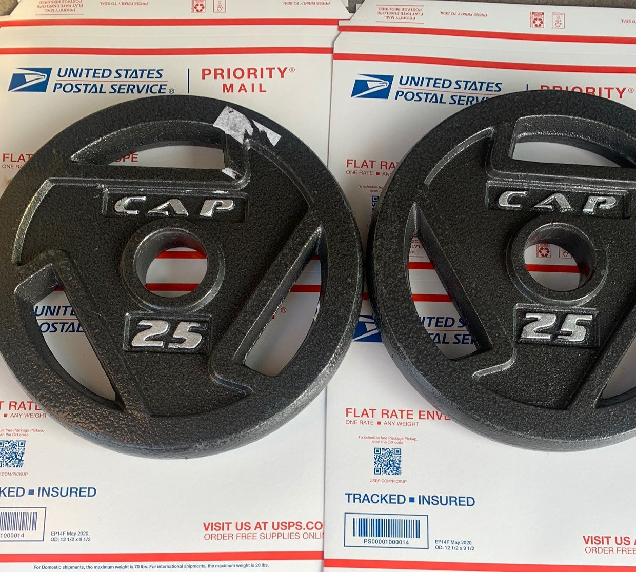 New CAP 25lb (x 2) Olympic Weight Plates