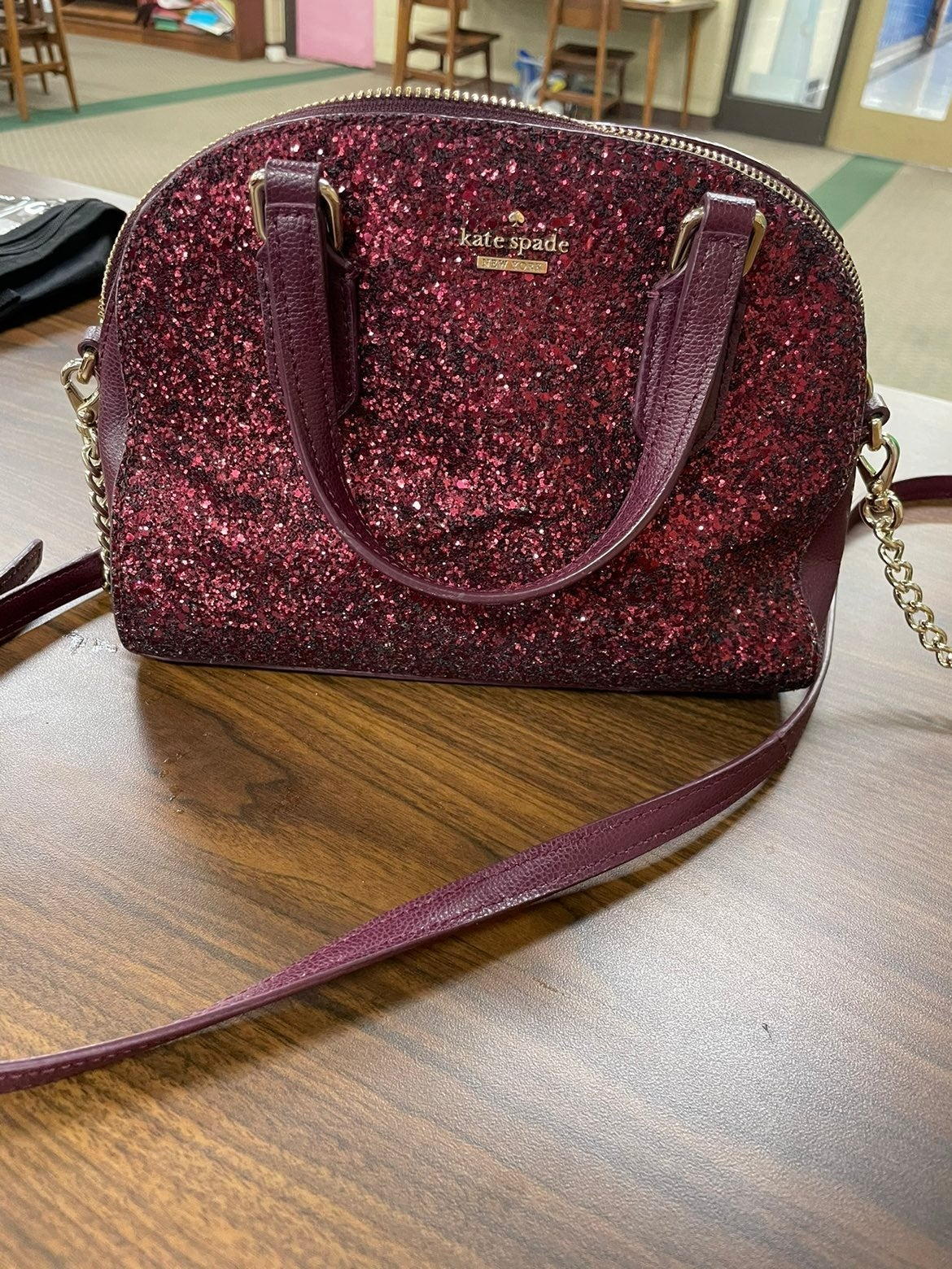 Authentic Kate Spade Plum Glitter Purse