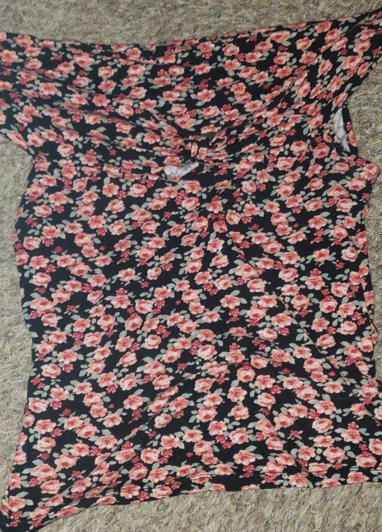 Wet seal off shoulder floral top xl