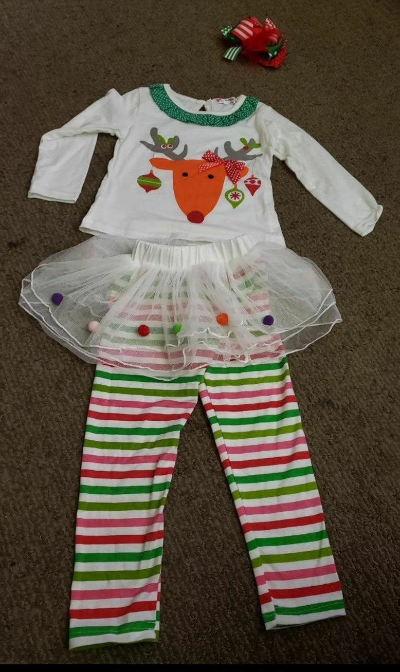 Toddler reindeer Christmas outfit 2-3t