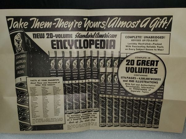 Vintage Lot Book of Month Encyclopedia