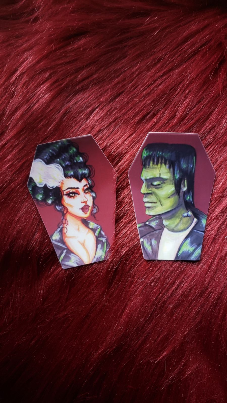 Frankenstein and The Bride STICKERS 2pc