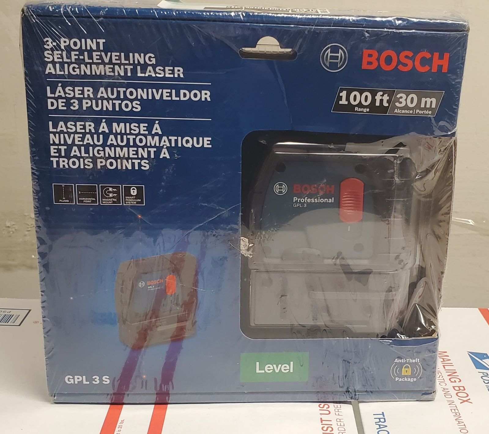 Bosch GPL 3 S 100 ft 3-point Self-Level