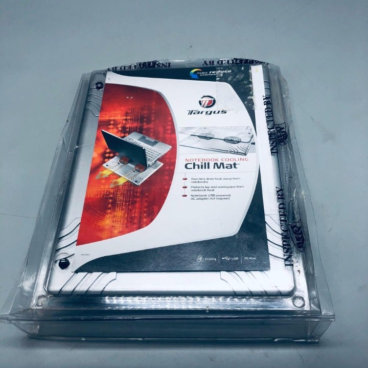 Targus notebook cooling chill mat new in open package usb port reduce overheatin